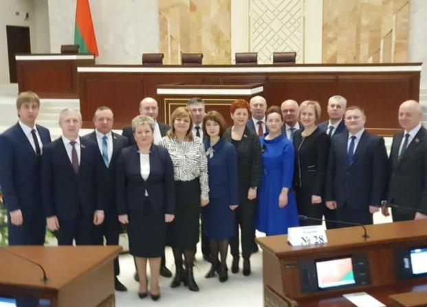 Депутаты Брестской области в полном составе на открытии первой сессии Палаты представителей Национального собрания Республики Беларусь седьмого созыва